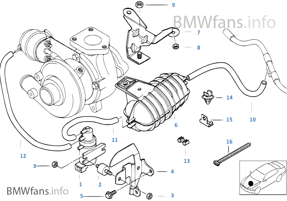 Vacum control engine turbo charger on bmw e39 engine diagram
