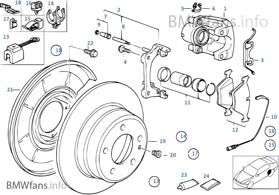 R ホイール ブレーキ-パッド-センサー