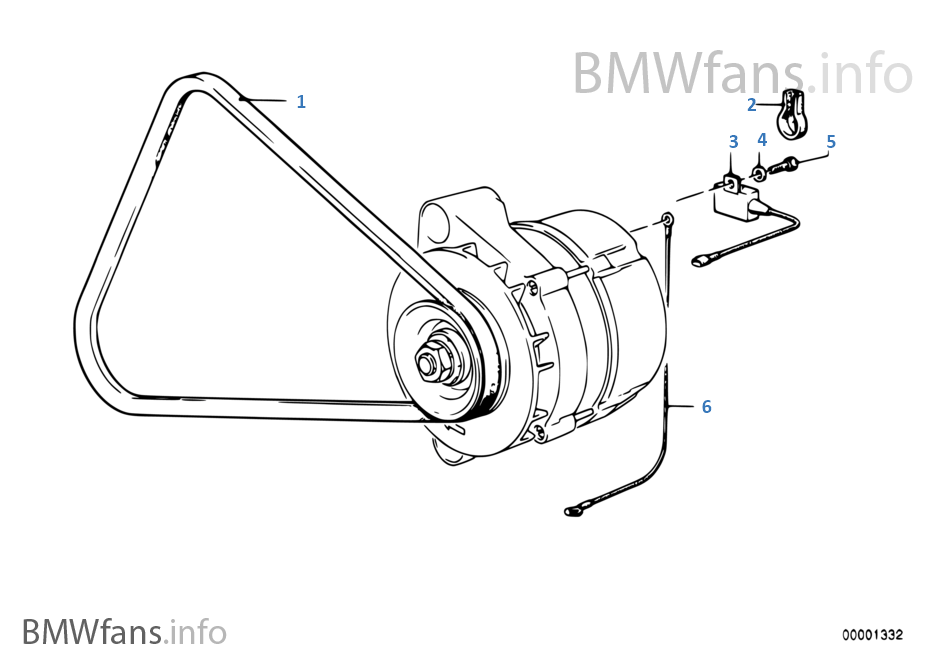 Fan belt | BMW 3' E30 323i M20 South Africa