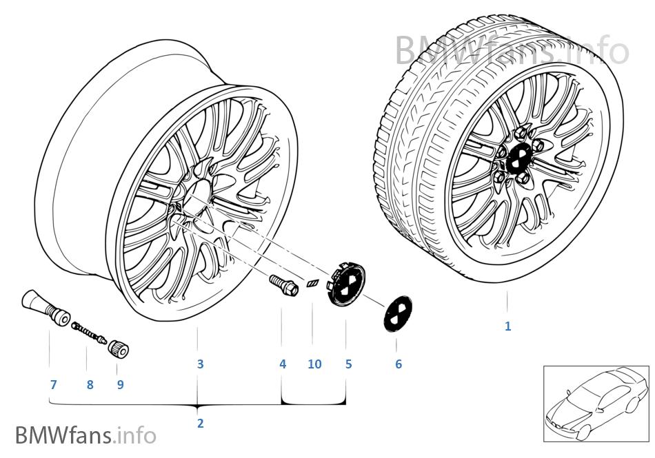 bmw alloy wheel  m double spoke 67