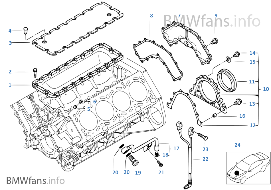 engine block mounting parts bmw x5 e53 x5 4 6is m62 europe rh bmwfans info bmw m62 engine diagram M60 Tank Engine