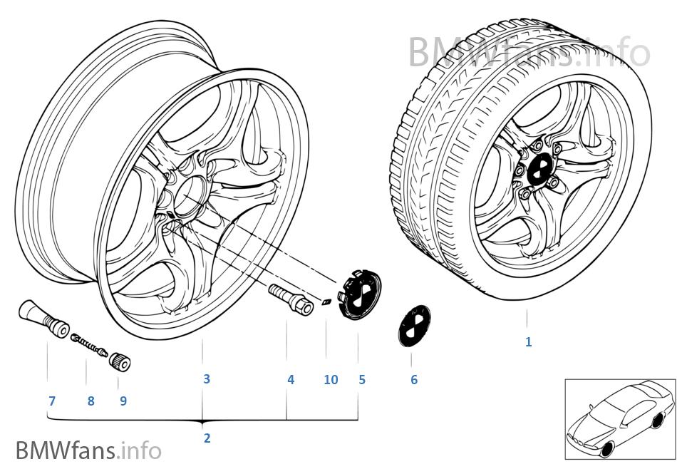 Л/с диск BMW со сдвоенными спицами M 68