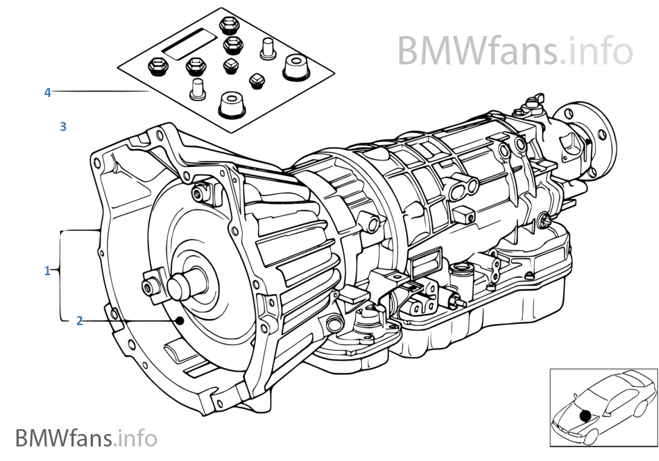 bmw transmission diagrams