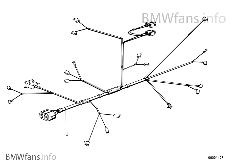engine wiring harness bmw 3 e21 318i m10 europe rh bmwfans info BMW Battery Wiring Harness BMW E46 Wiring Harness