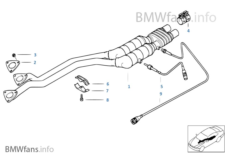 Exhaust Catalytic Converter BMW 523i 2.5 M52 9//1995-9//1998 EURO 2