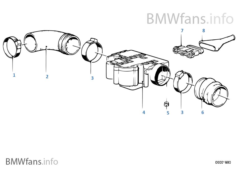 bmw m30 e3 si e12 e24 luftmengenmesser lmm air flow meter afm 0280203002 1359641 ebay. Black Bedroom Furniture Sets. Home Design Ideas