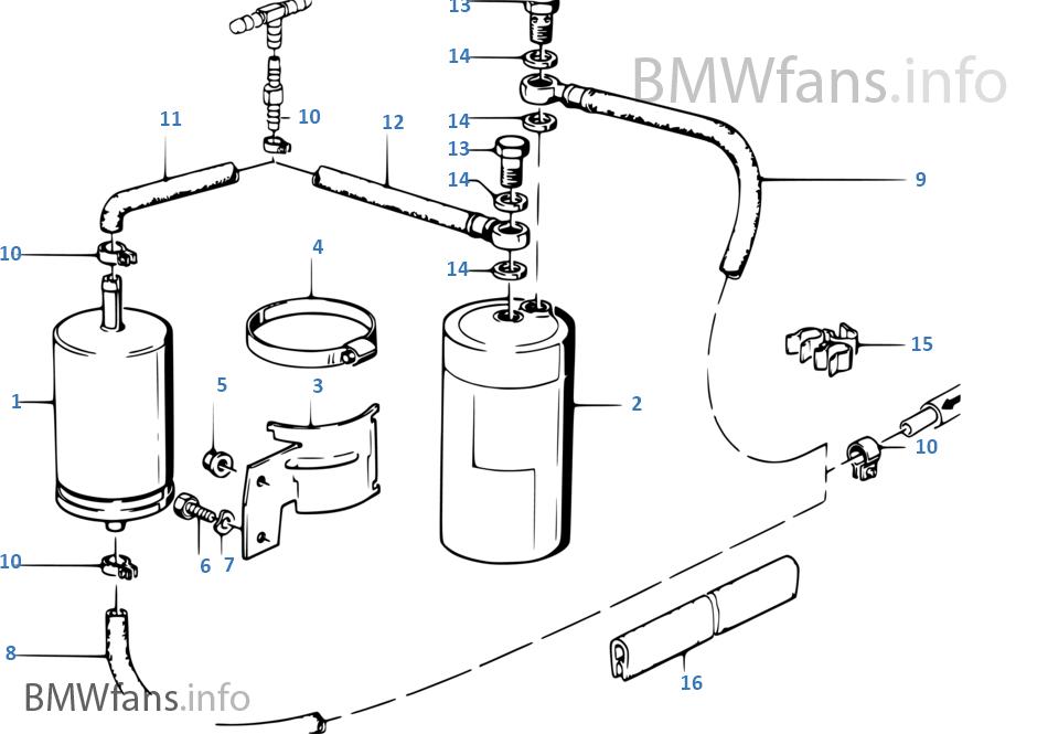 Fuel Supply Filter Bmw 3 E30 325i M20 Europe