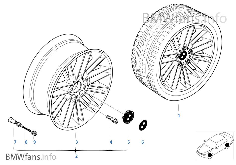 BMW LA wheel, parallel spoke 85