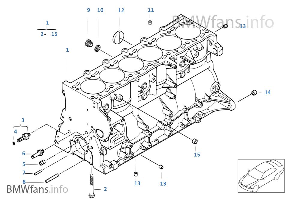 Engine block | BMW 3' E46 M3 S54 EuropeBMWfans.info