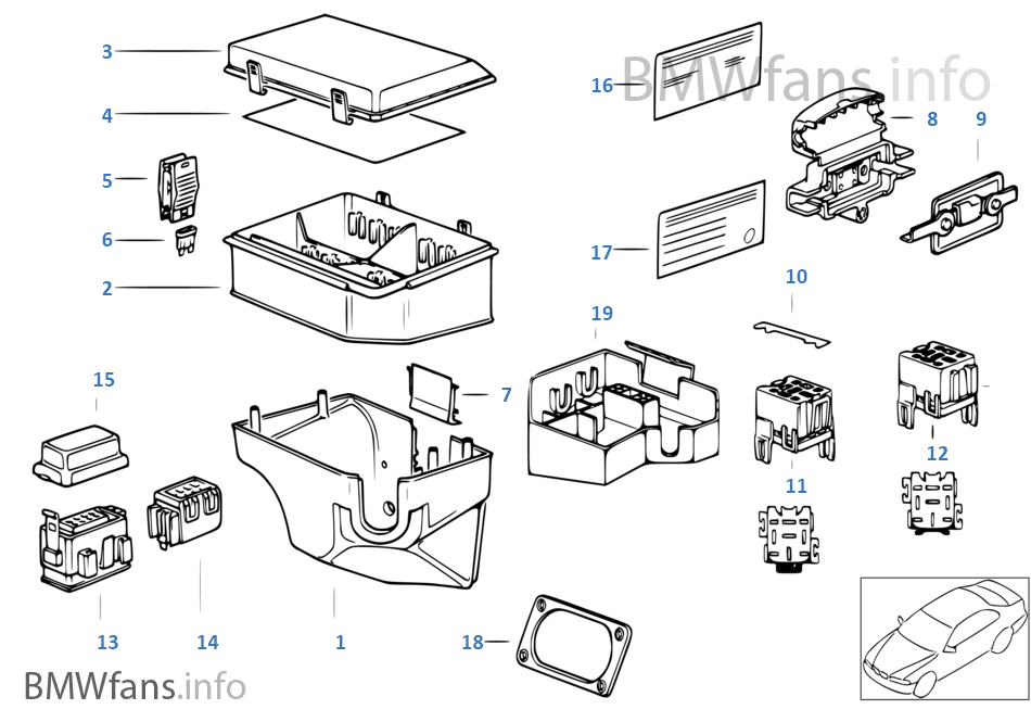bmw parts diagram e31