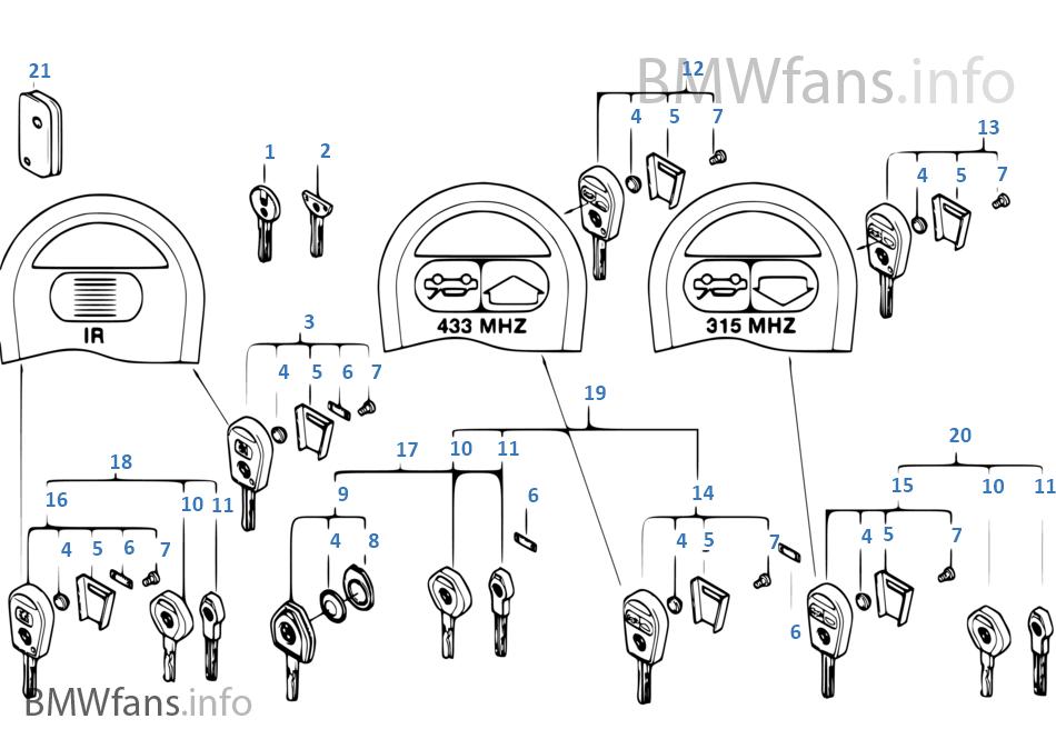 Schlüssel mit Batterie (bis 09/99)
