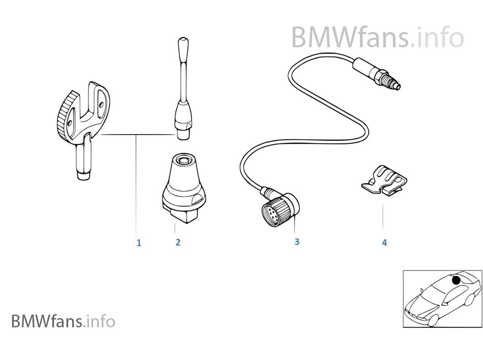 Münferit parçalar, Tavan telefon anteni
