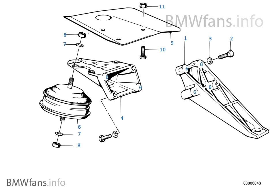 Engine Suspension Der BMW 3 E30 M3 S14 Japan