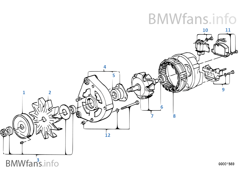 alternator parts diagram