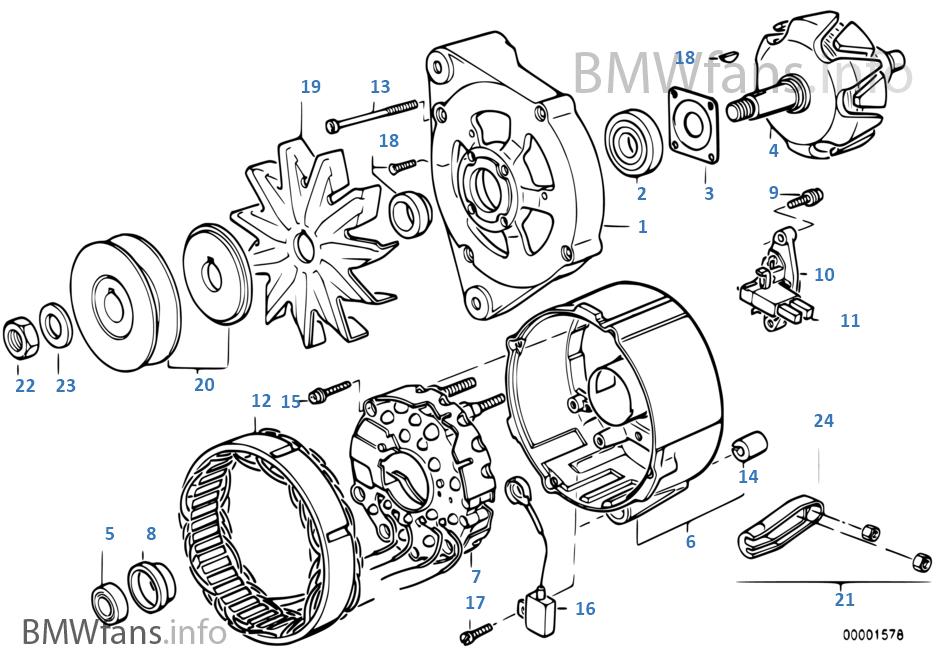 alternator  individual parts 80a