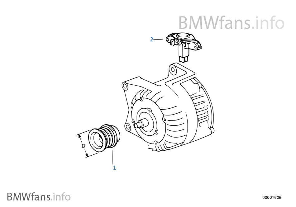 Alternator Parts 70a Bosch BMW 3 E36 316i M43 Europe Rh BMWfans Info 24 Volt: 24 Volt Alternator Wiring Diagram Tractor At Sewuka.co