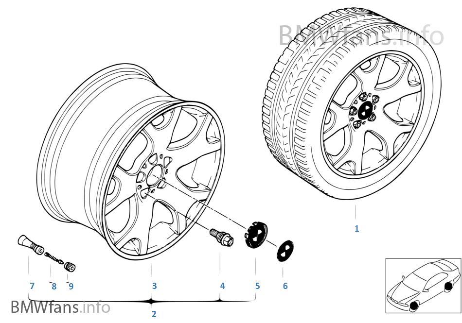 BMW LA wheel, V spoke 63