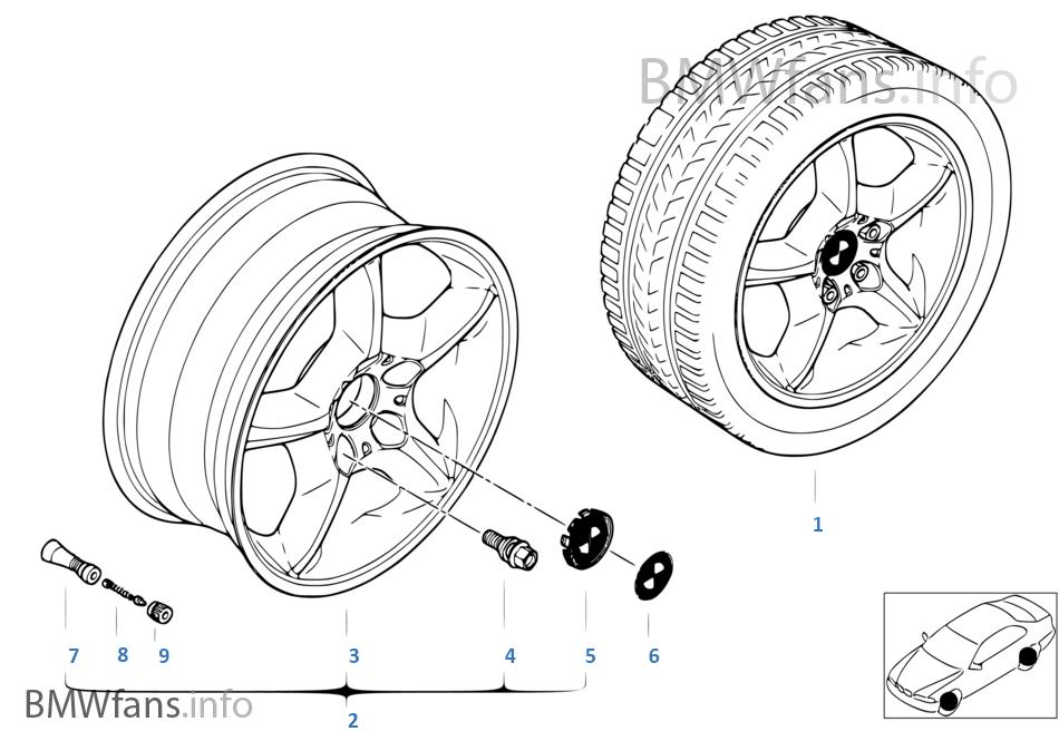 BMW wiel lichtmetaal sterspaak 57