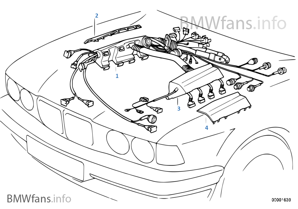 Resguardo da cablagem do motor