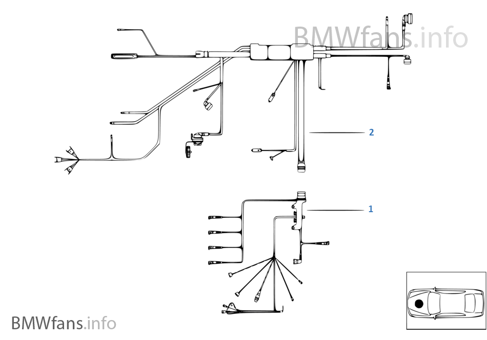 engine wiring harness bmw z3 e36 z3 1 9 m44 usa rh bmwfans info BMW 2002 Wiring Diagram PDF WDS BMW Wiring Diagrams Online