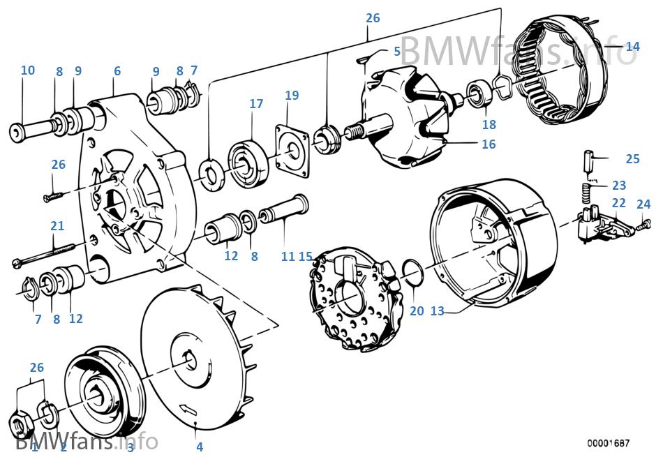 Alternator Individual Parts Bmw 3 E21 323i M20 Europe