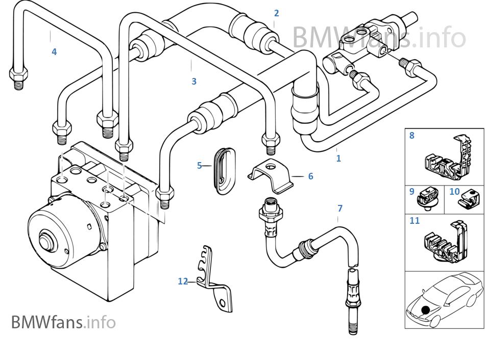 制動管路 前部 ABS/ASC+T