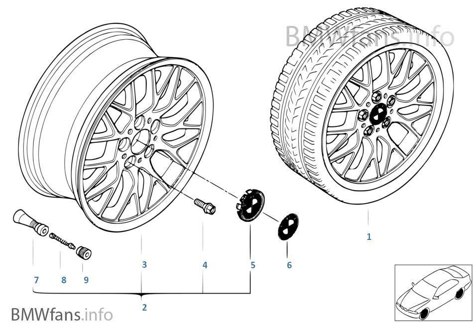 BMW 輕質合金輪輞 十字輪幅 78