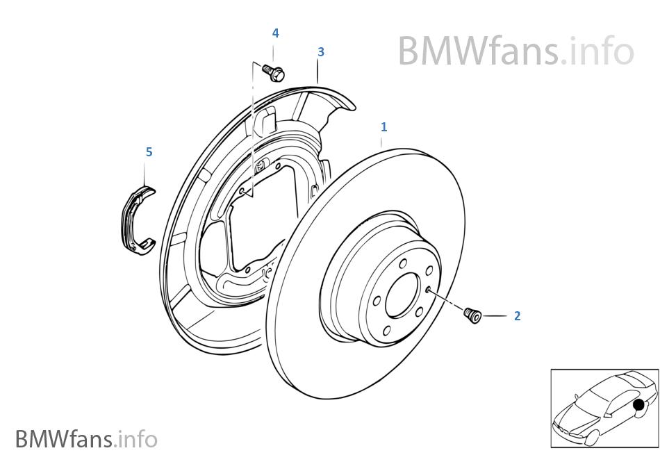 Freno de rueda trasera-Disco de freno