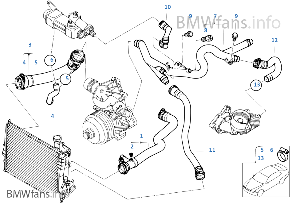 17458 E46 330d Coolant Leak Front Left Hand Engine on 2001 bmw 330i engine diagram