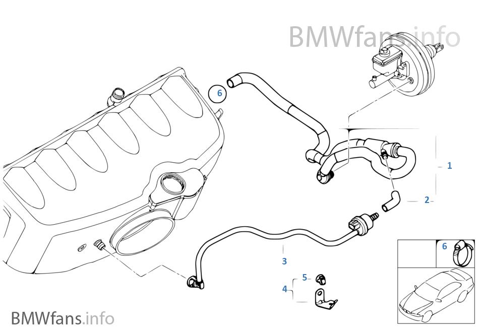 325ci engine diagram unterdrucksteuerung-motor | bmw 3' e46 m3 s54 usa #14