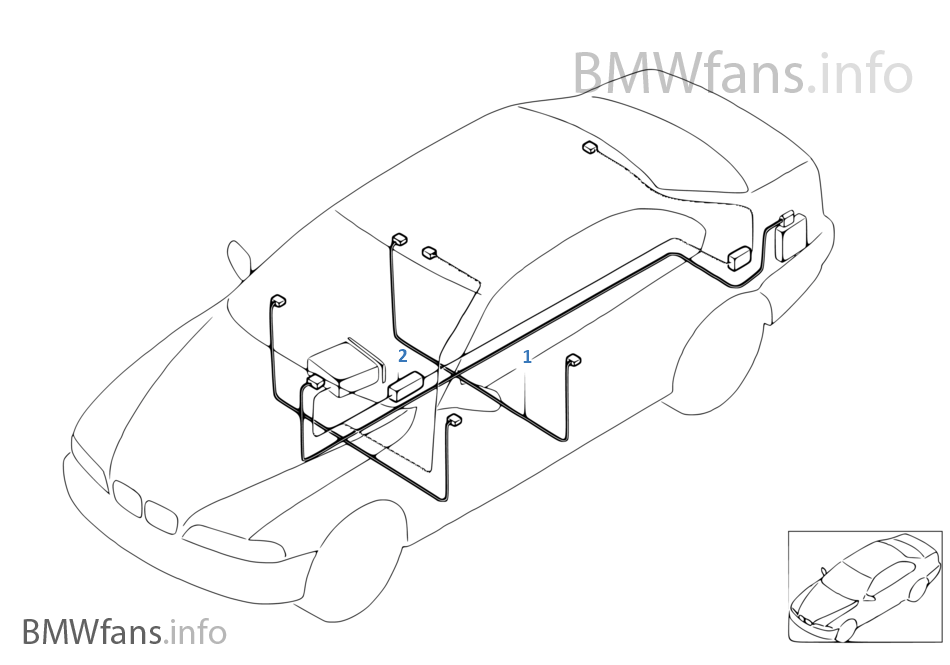 1qby audio wiring harness bmw 3' e46 330ci m54 europe bmw e46 wiring loom diagram at gsmportal.co