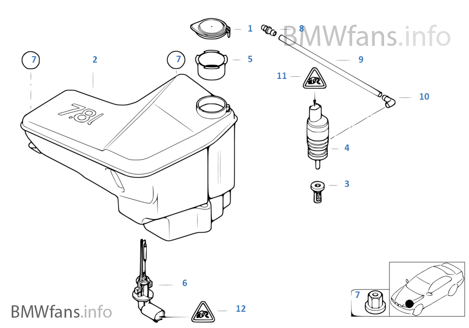 bmw x3 headlight parts diagram