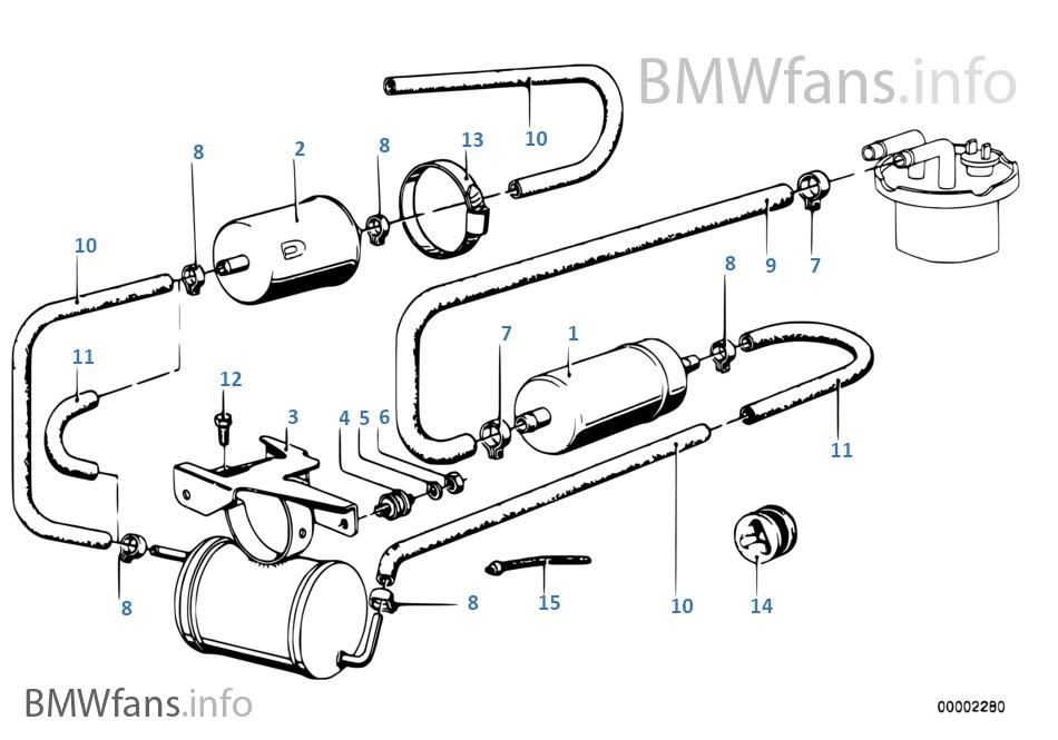 Fuel pump/fuel filter   BMW 5' E12 528i M30 Europe