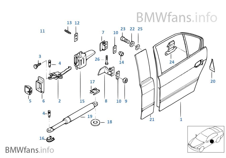 1996 Bmw 740i Interchangeable Doors