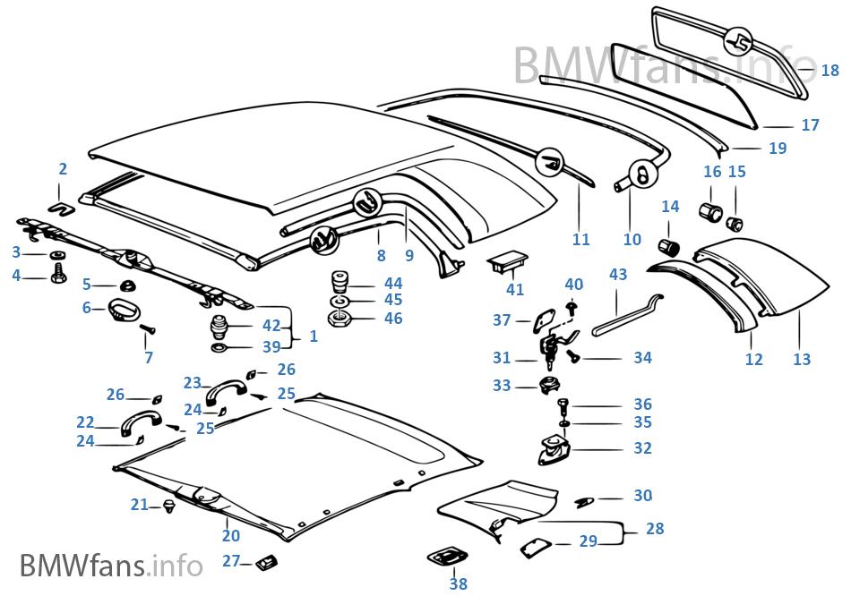 Hardtop Einzelteile Bmw 3 E36 328i M52 Europa