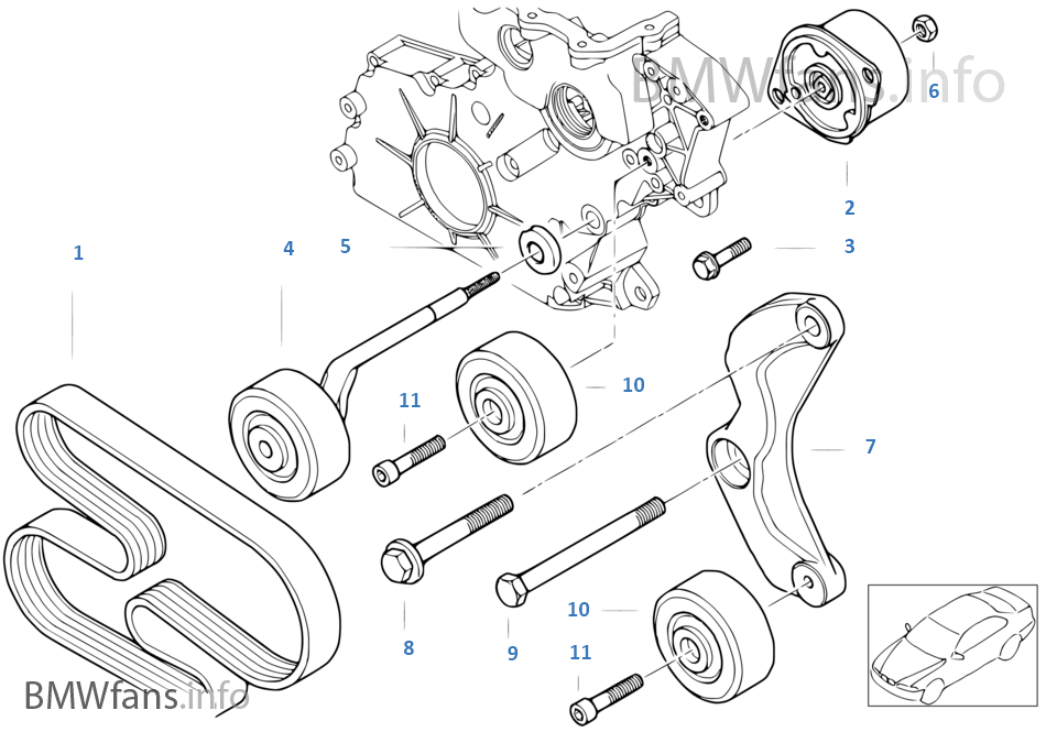 Bmw E39 Waterpump Diagram Bmw Auto Parts Catalog And Diagram