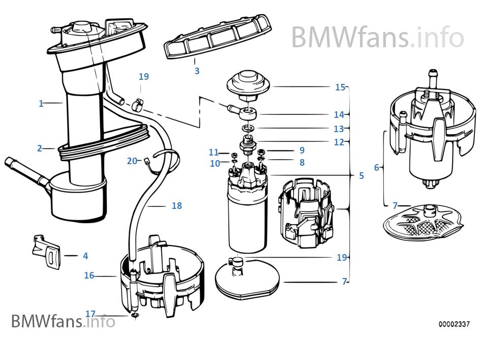 bmw vdo e34 e32 m5 benzinpumpe fuel pump gas