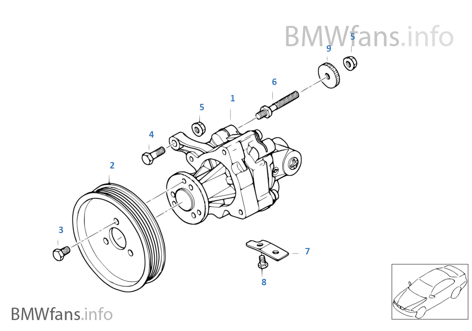 bmw z4 power steering diagram