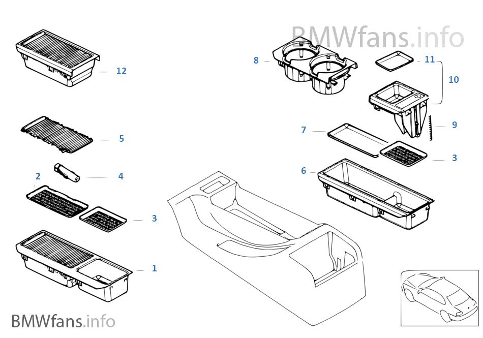 pi ces de montage de vide poches bmw 3 39 e46 323ci m52 l 39 europe. Black Bedroom Furniture Sets. Home Design Ideas