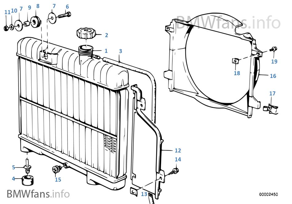 Радиатор водян.охлажд./кожух вентилятора