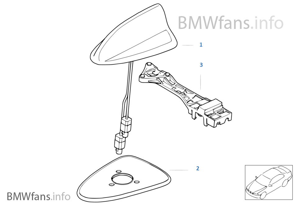 Single parts teleph antenna multi band moreover Nav Light Switch Wiring Diagram moreover Wiring Diagram Kelistrikan Vespa Super moreover Suzuki Df200 Wiring Diagram likewise Antenna Diversity. on bmw e46 navigation radio