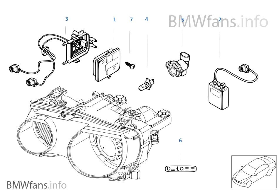 scheinwerfer elektronikteile xenonlicht bmw 3 39 e46 325ti. Black Bedroom Furniture Sets. Home Design Ideas