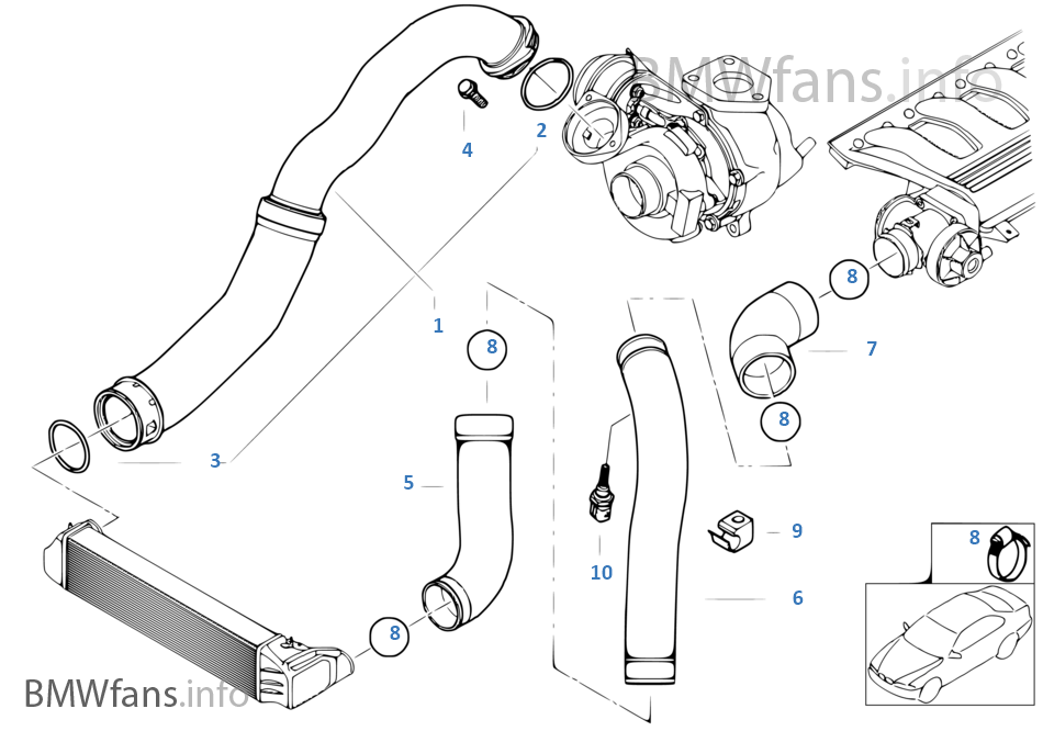 intake manifold supercharg air duct bmw 3 e46 320d m47n europe rh bmwfans info BMW 328I Air Intake Nozzle BMW 325I Parts Diagram