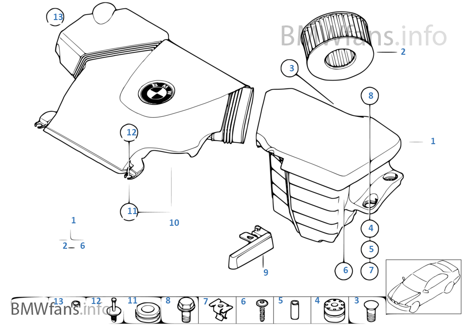 suction silencer  filter cartridge
