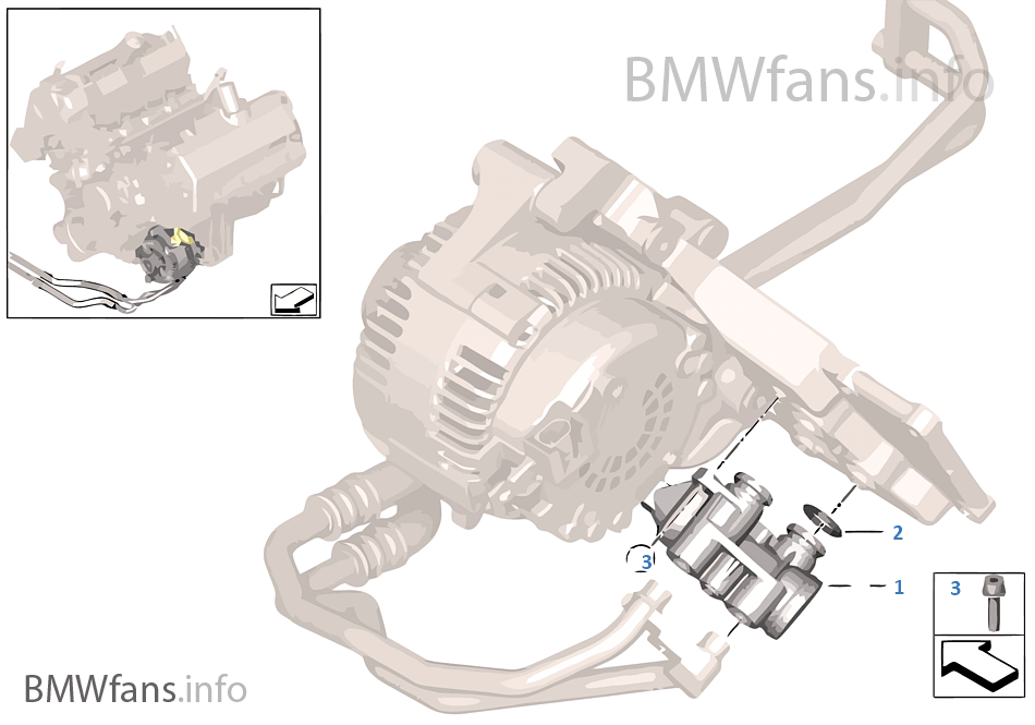 Oil Supply Oil Cooler Connection Bmw X5 E53 X5 4 8is