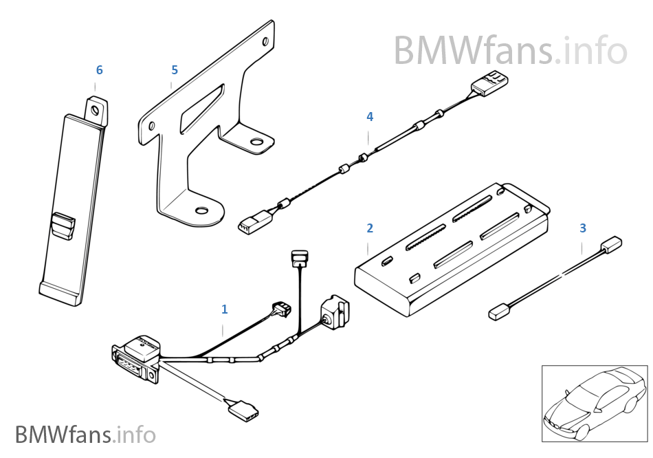 Single Parts F Siemens S10 Luggage Comp Bmw 7 E38 740d M67 Europe