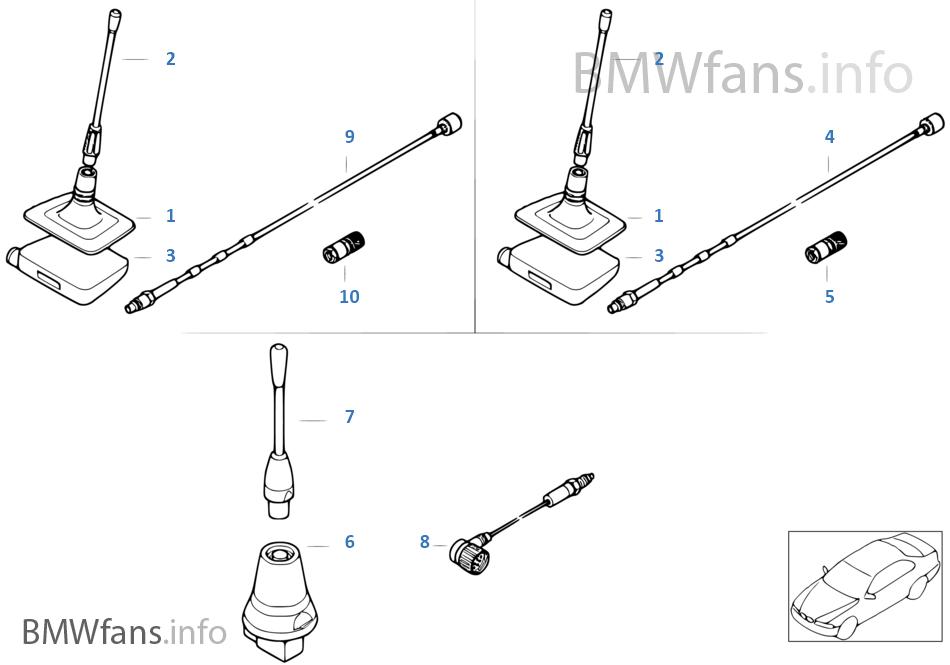 Single parts f Nokia3110 teleph. antenna