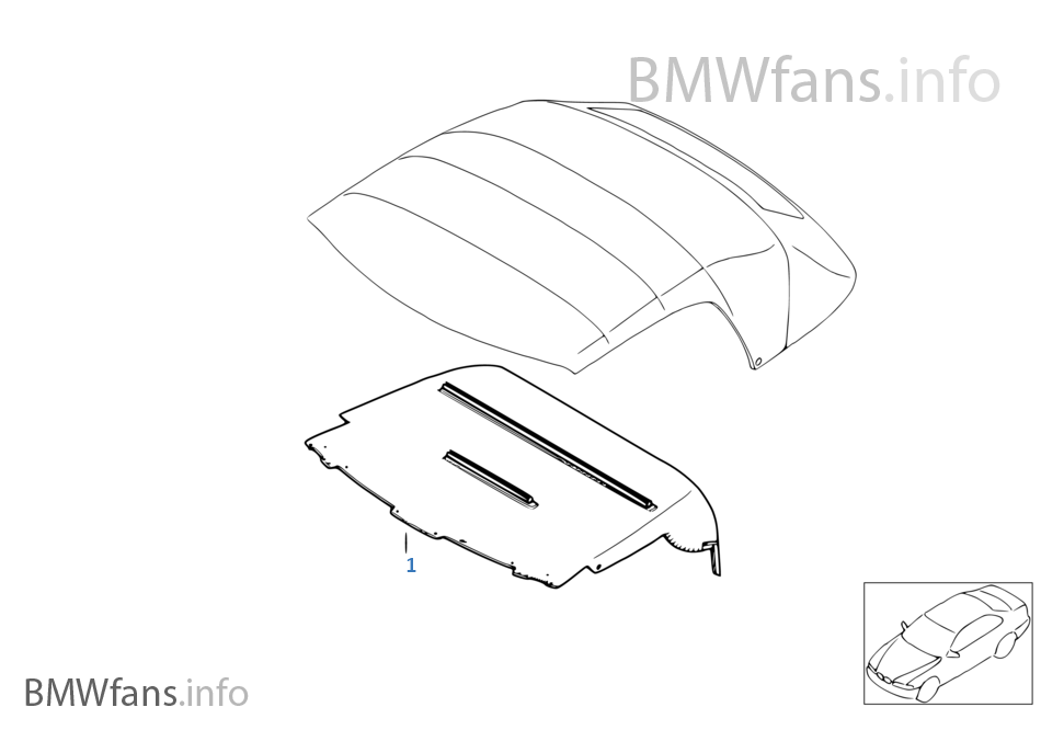 retrofit kit softtop headlining bmw z3 e36 z3 1 9 m44 europe BMW Z3 Powder retrofit kit softtop headlining