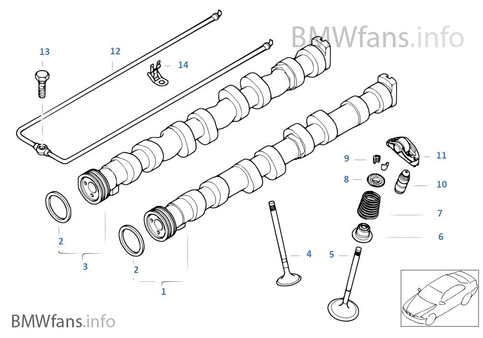 Valve timing gear — camshaft/valves