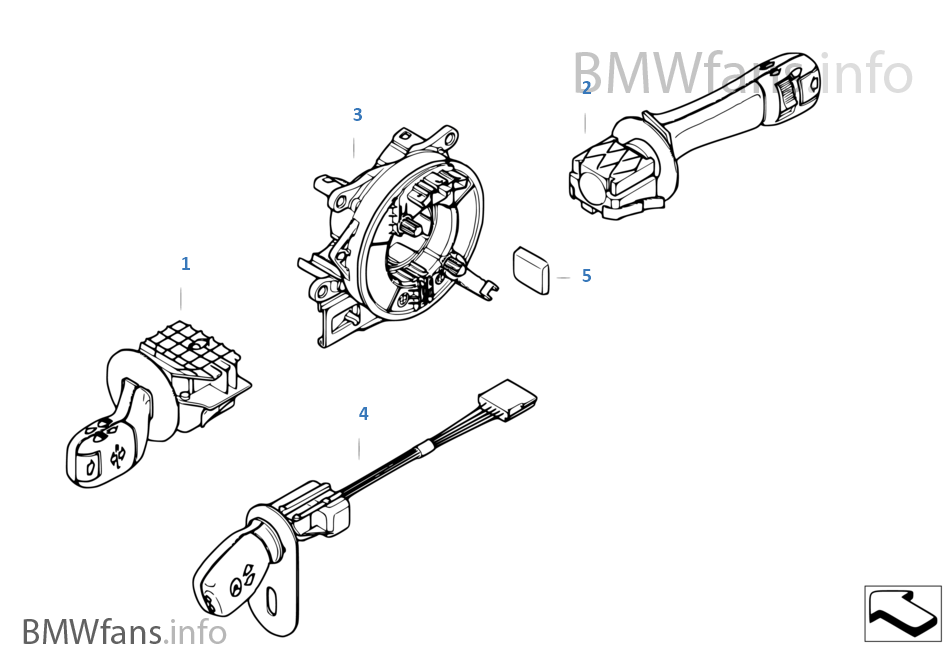 bmw 740il steering diagram